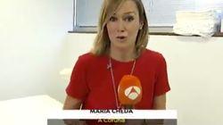 Sorpresa en las Noticias de Antena 3: la reportera lo prueba en primera