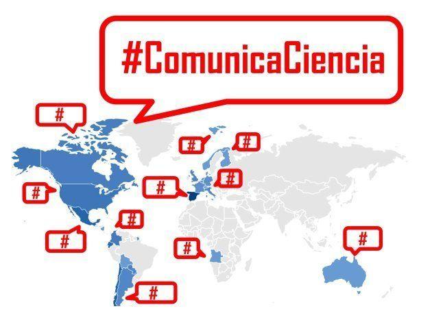 Mapa de países en los que ya se utiliza la etiqueta #ComunicaCiencia. Análisis:
