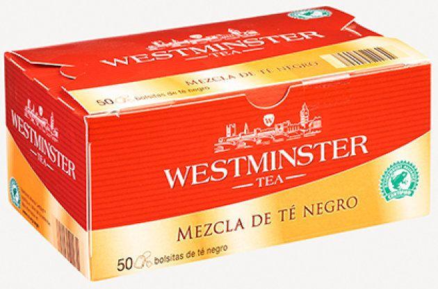Un ejemplar del producto Westminster té negro, procedente de la web de los supermercados