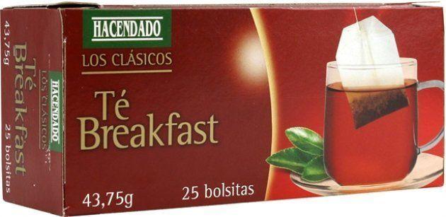 Un ejemplar del producto Hacendado Té Breakfast, que se vende en los supermercados de
