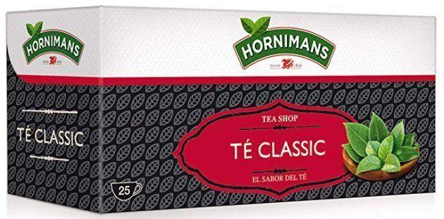 Un ejemplar del té clásico de Hornimans, que se vende en un paquete de 25
