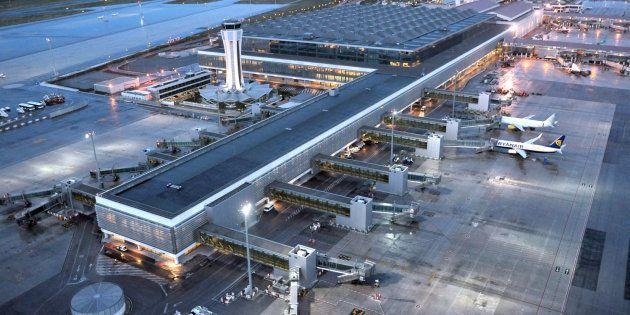 Vista aérea del aeropuerto de