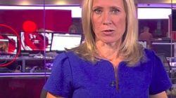 Escándalo por lo que se vio en directo detrás de esta presentadora de la