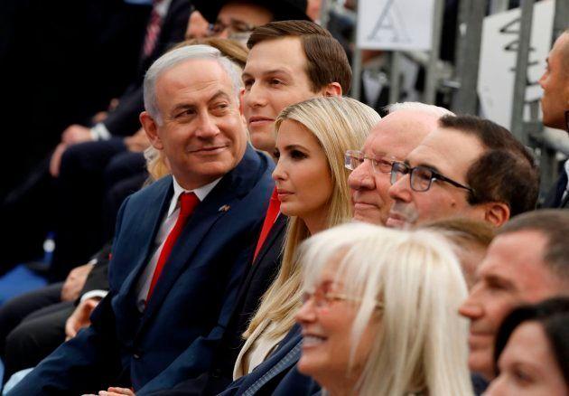 Netanyahu, Kushner, Ivanka Trump, Mnuchin y Reuven
