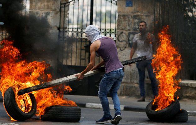 Protestas y huelga en Palestina para protestar por la matanza de