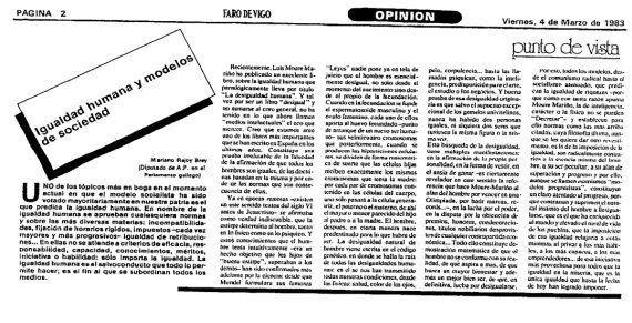 El tuit de Talegón que recuerda unas palabras de Rajoy de 1983 para callar a quienes llaman racista a
