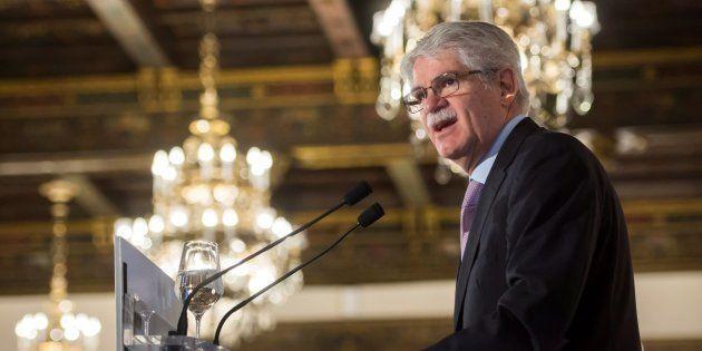 El ministro de Exteriores, Alfonso Dastis, este
