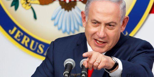 El primer ministro de Israel, Benjamin Netanyahu, en la inauguración de la embajada estadounidense en