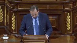 El ministro José Luis Ábalos rompe a llorar en el