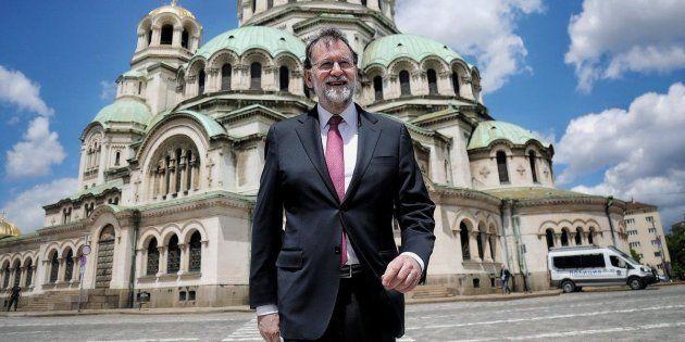 Fotografía publicada en el twitter oficial del presidente del Gobierno, Mariano Rajoy, visita a la Catedral...