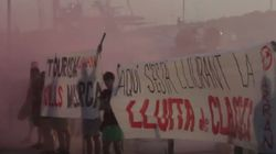 Arran: multa de 1.200 euros por la protesta antituristas en el Moll Vell de