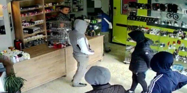 Los ladrones, en el local de Montignies-sur-Sambre donde los habían