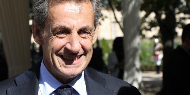 El que fuera presidente de Francia, Nicolas Sarkozy, en un homenaje a víctimas del terrorismo, el pasado...