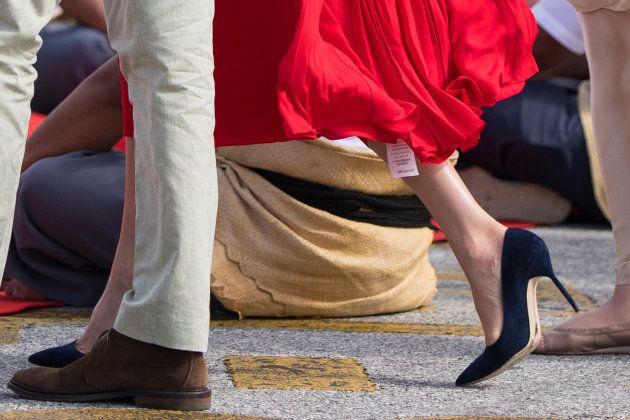 El momento 'tierra, trágame' de Meghan Markle con este vestido rojo en