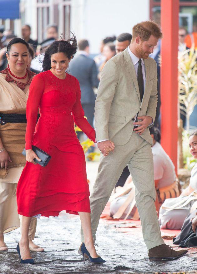 Meghan Markle y el príncipe Enrique en