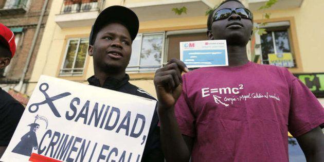 Protesta contra los recortes en sanidad universal, en