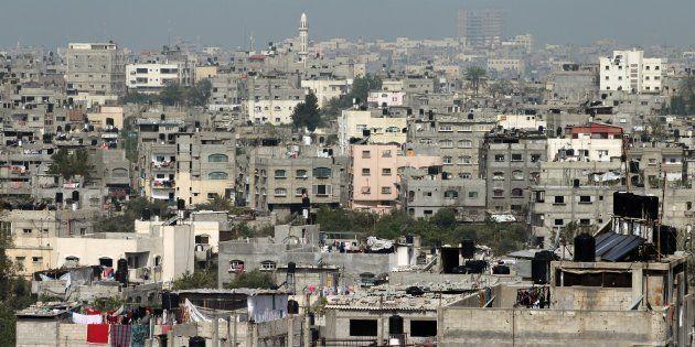 Vista parcial del campo de refugiados de Jabalia, en el norte de Gaza, en una imagen de