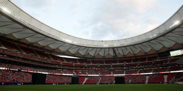 Impresionante: así se ha celebrado en el Wanda Metropolitano el gol de