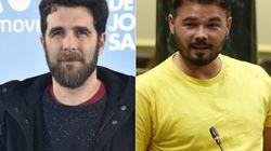 El corte de 'Gonzo' a Rufián por un tuit sobre Rodrigo