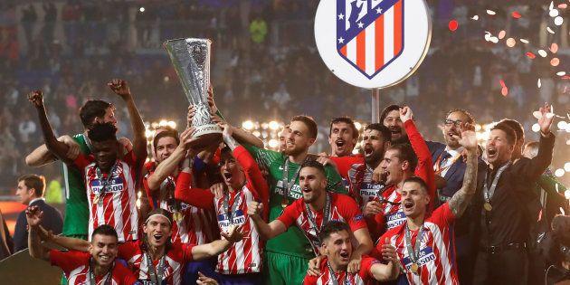 El Atlético de Madrid, campeón de la Europa League tras ganar 0-3 al Olympique de