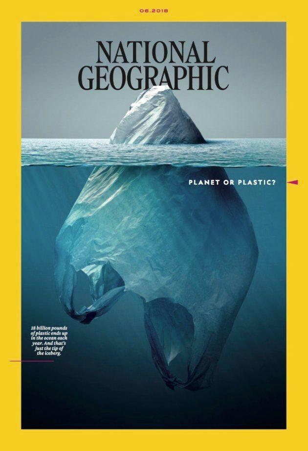 La aplaudida portada de 'National Geographic' sobre el plástico en los
