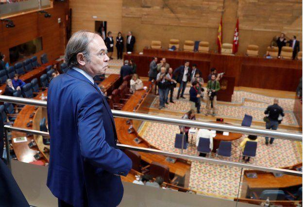 Pablo Casado no acude al pleno de investidura de Garrido pese a estar