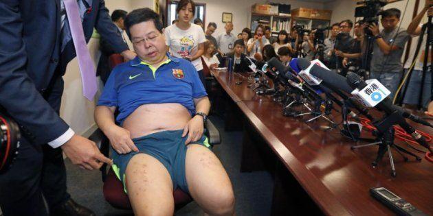 Howard Lam, durante la comparecencia en la que ha denunciado su