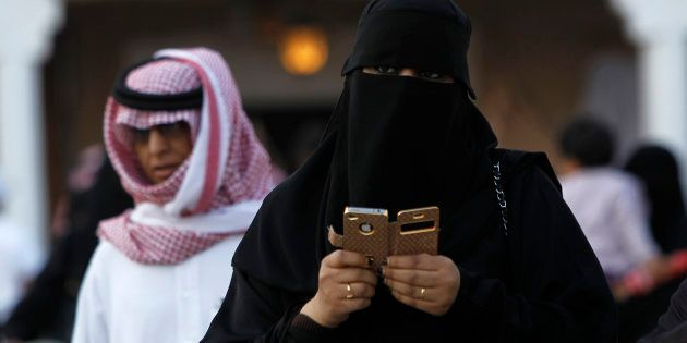 Una mujer saudí, retratada en la capital, Riad, en febrero de