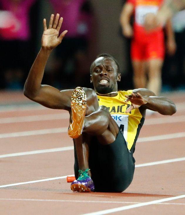 Bolt se lesiona en su última carrera y priva a Jamaica de medalla en el