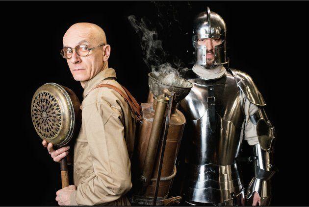 Jesús Barranco y Font García como los ghost buster de 'La valentía' de