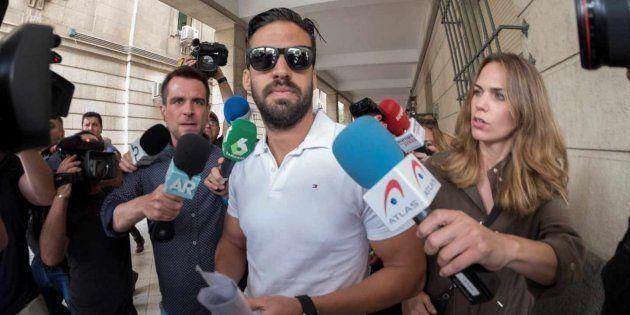 Antonio Manuel Guerrero Escudero, tras una de sus firmas de control en los juzgados de