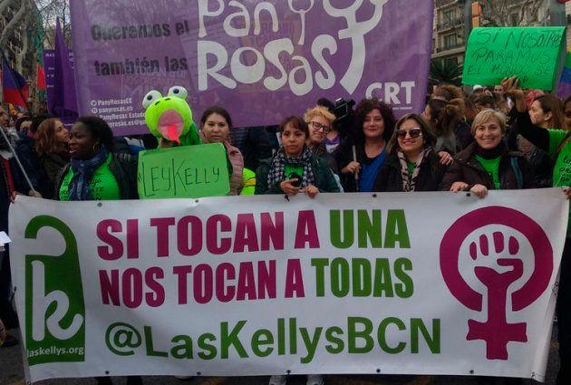 Protesta de las 'Kellys' en