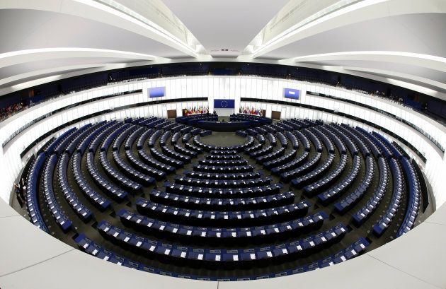 La Cámara Principal del Parlamento Europeo en Estrasburgo,