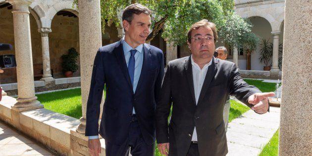 Pedro Sánchez y Guillermo Fernández