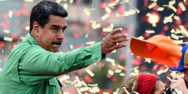 Nicolás Maduro, en el mitin de cierre de su