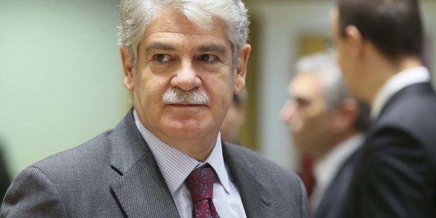 El ministro de Exteriores, Alfonso Dastis, durante una reunión en Bruselas (Bélgica) el pasado