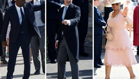 Desfile de famosos: todos los rostros conocidos de la boda del príncipe Enrique y Meghan