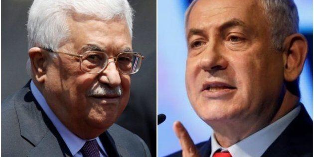 Mahmud Abbas y Benjamin Netanyahu, en sendas imágenes de