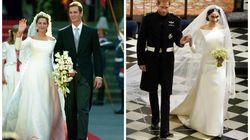 El increíble parecido del vestido de novia de Meghan Markle con el de la infanta