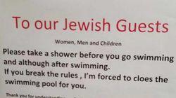 Un cartel que pide a los judíos que se duchen desata la polémica en