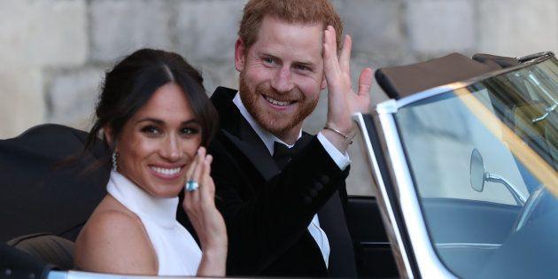 Los recién casados duques de Sussex, tras la ceremonia de su