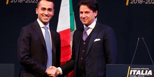 Di Maio y Conte, en una imagen de