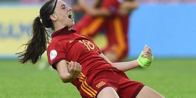 Eva Navarro, jugadora de la selección española femenina de fútbol