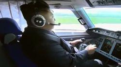Este vídeo con musicote de Kim Jong-Un pilotando un avión te dejará muy