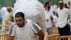 Vuelve el tráfico de mercancías al paso hispano-marroquí de Ceuta, cerrado ocho días ante la presión