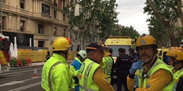 Al menos dos desaparecidos tras el derrumbe de un edificio en el centro de