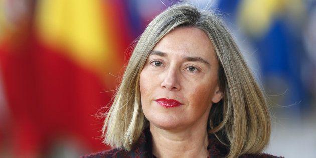 La alta representante de la Unión Europea para la Política Exterior, Federica Mogherini, retratada en...