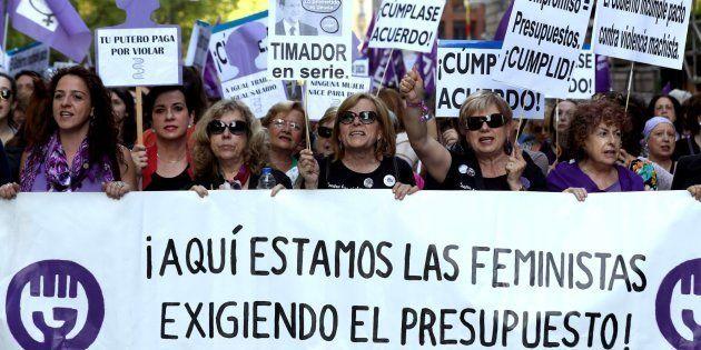 Manifestación del movimiento feminista en