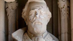 Desfiguran una estatua de la Confederación en la Universidad de Duke, en Carolina del