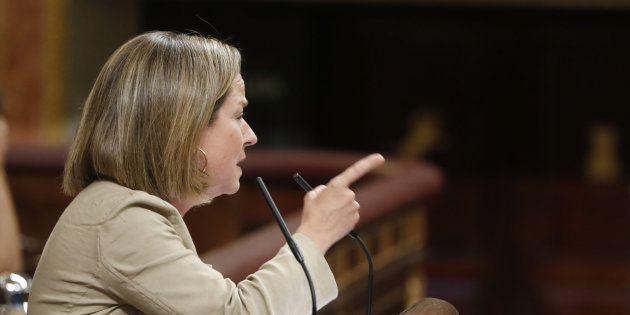 Ana Oramas, diputada por Coalición Canaria, en el Congreso, en una imagen de